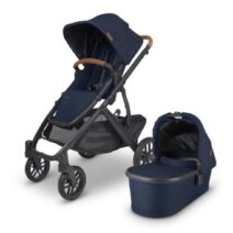 UPPABABY V2 VISTA Incl BASSINET – NOA (NAVY) FREE UPPER ADAPTERS AND SEAT LINER OR PARENT CONSOLE